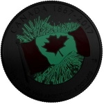 5 Dollars (Canada's 150th Birthday, Glow in Dark - Silver)