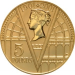 5 Pounds (100th Victoria Anniversary - Gold)
