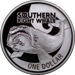 1 Dollar (Southern Right Whale)