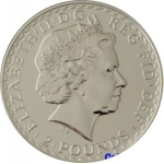 2 Pounds (Britannia - Silver with Gold Plating)