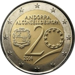 2 Euro (20th anniversary of the entry the Council of Europe)