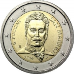 2 Euro (90th Anniversary of the Death of Giacomo Puccini)