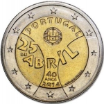 2 Euro (40th Anniversary of the April 25)