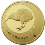 10 Dollars (Icons of New Zealand - Kiwi and Southern Cross)