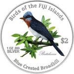 2 Dollars (Blue-crested Broadbil)