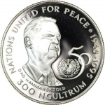 300 Ngultrum (50th Anniversary United Nations)