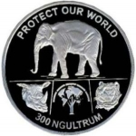 300 Ngultrum (Protect Our World - Asian Elephant)