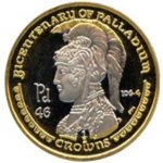 ½ Crown (Bicentenary of the discovery of Palladium)
