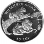 50 Francs (Wildlife of Africa - Lions)
