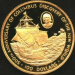 100 Dollars (500th Anniversary - Discovery of the new world)