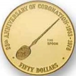 50 Dollars (25th Anniv. Of Coronation - Spoon)