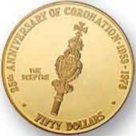 50 Dollars (25th Anniv. Of Coronation - Scepter)