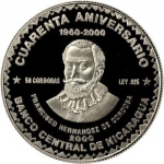 50 Córdobas (Central Bank 40th Anniversary)