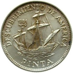 5 Pesos (Columbus Ship - Pinta)