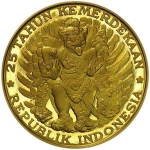20,000 Rupiah (25th anniversary of independence)