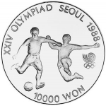 10,000 Won (XXIV Sumer Olympics 1988 - Football)