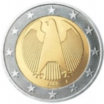 2 Euro (circular eagle - new map -  A, D, F, G, J)
