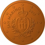 1 Euro Cent (Coat of arms of the Republic of San Marino)