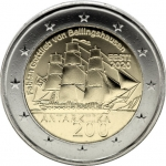 2 Euros (200th anniversary of the discovery of Antarctica)