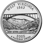 25 Cents / Quarter (West Virginia)