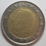 2 Euro (Albert II - 1st map - 1st type - 1st portrait)