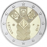 2 Euros (Centenary of the Baltic republics: Lithuania)