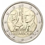 2 Euro (175th anniversary of the death of Grand Duke William I)