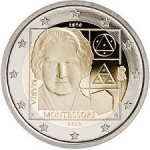 2 Euros (150th Anniversary of the birth of Maria Montessori)