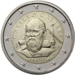 2 Euro (450th Anniversary of the Birth of Galileo Galilei)