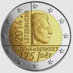2 Euro (175th Anniversary of independance)