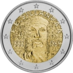 2 Euro (125th anniversary of the Nobel Prize)