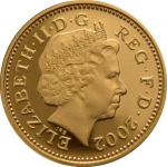 1 Penny (Crowned Portcullis - Gold)