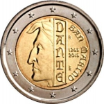2 Euro (750 years since the birth of Dante Alighieri)