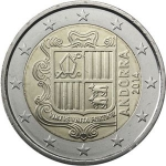 2 Euro (Coat of arms of Andorra)