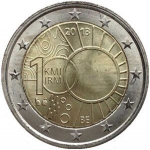2 Euro (100 years Meteorological Institute)