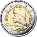 2 Euro (500th An. of the foundation of Monaco