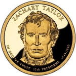 1 Dollar (12 th president Zachary Taylor 1849-1850)