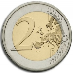 2 Euro (Peace prize winner Bertha von Suttner - Europe map)