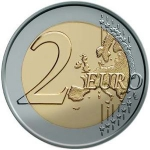 2 Euro (Albert II - 2nd map - 2nd type - 2nd portrait)