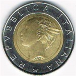 500 Lire (20 yrs. Election of EC Parliament)