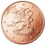 5 Euro Cent (The Heraldic Lion of the Coat of Arms of Finlan