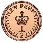 ½ Penny (New Penny)