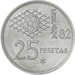 25 Pesetas (FIFA World Cup of Spain)
