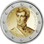 2 Euro (200th Anniversary of the accession to the throne of Prince Honorato V)