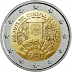2 Euros (600 Years of the Consell de la Terra)